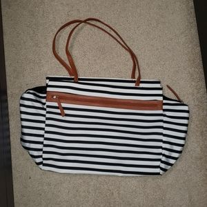 Striped dsw bag